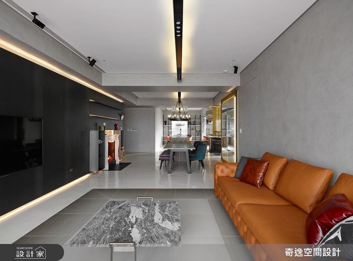 43坪新成屋(5年以下)_混搭風客廳案例圖片_奇逸空間設計_奇逸_37之11