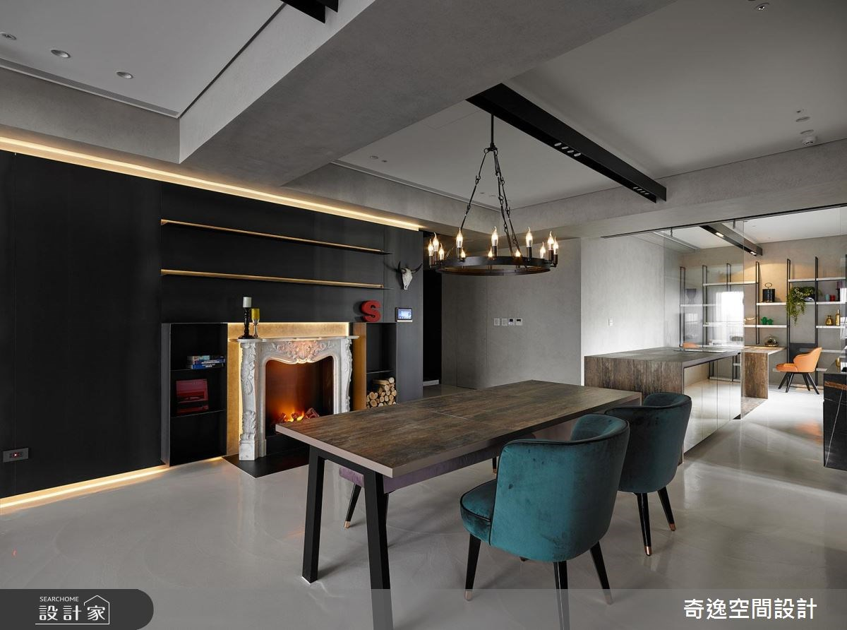 43坪新成屋(5年以下)_混搭風餐廳案例圖片_奇逸空間設計_奇逸_37之12