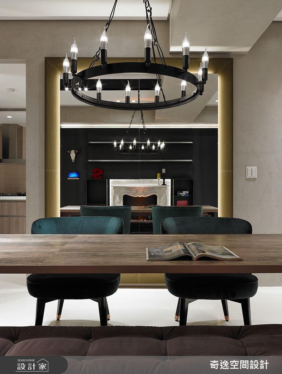 43坪新成屋(5年以下)_混搭風餐廳案例圖片_奇逸空間設計_奇逸_37之13