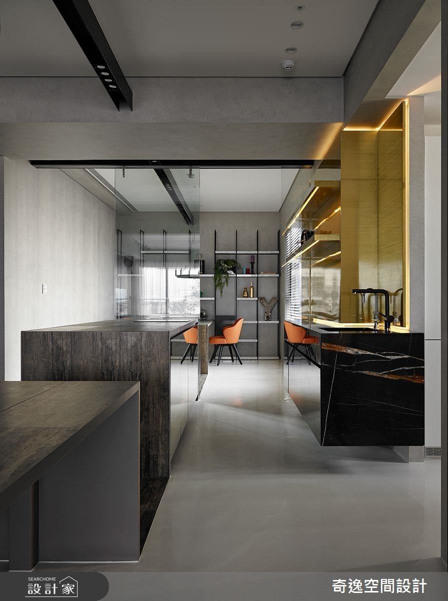 43坪新成屋(5年以下)_混搭風吧檯案例圖片_奇逸空間設計_奇逸_37之16