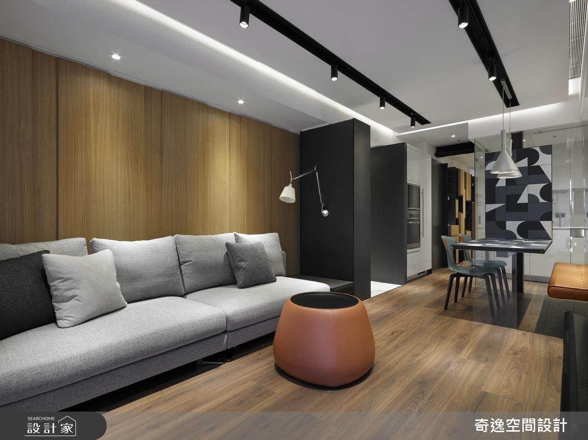 20坪新成屋(5年以下)_現代風客廳案例圖片_奇逸空間設計_奇逸_38之2