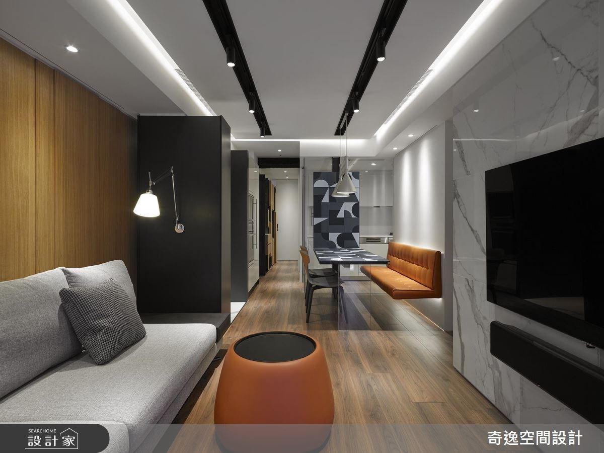 20坪新成屋(5年以下)_現代風客廳案例圖片_奇逸空間設計_奇逸_38之3