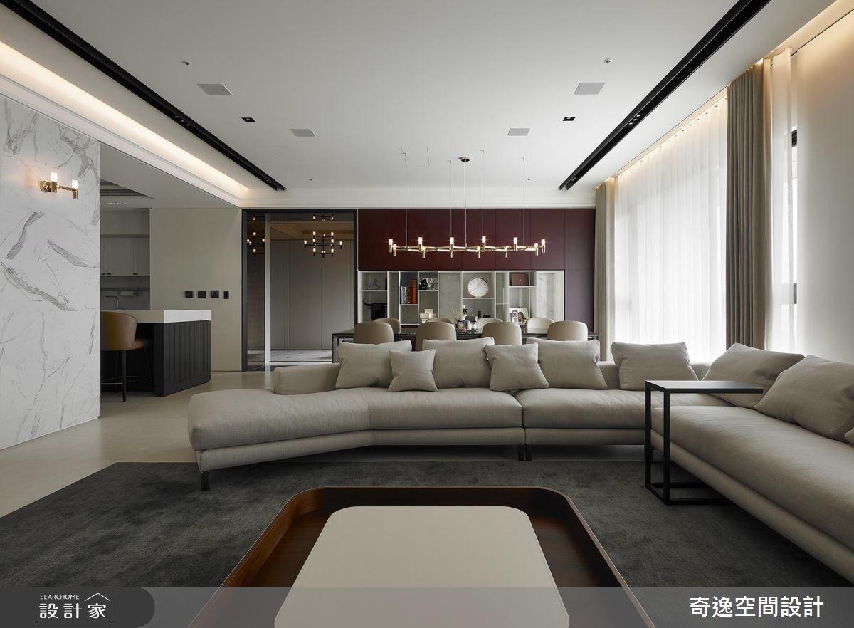 70坪新成屋(5年以下)_現代風客廳案例圖片_奇逸空間設計_奇逸_40之4