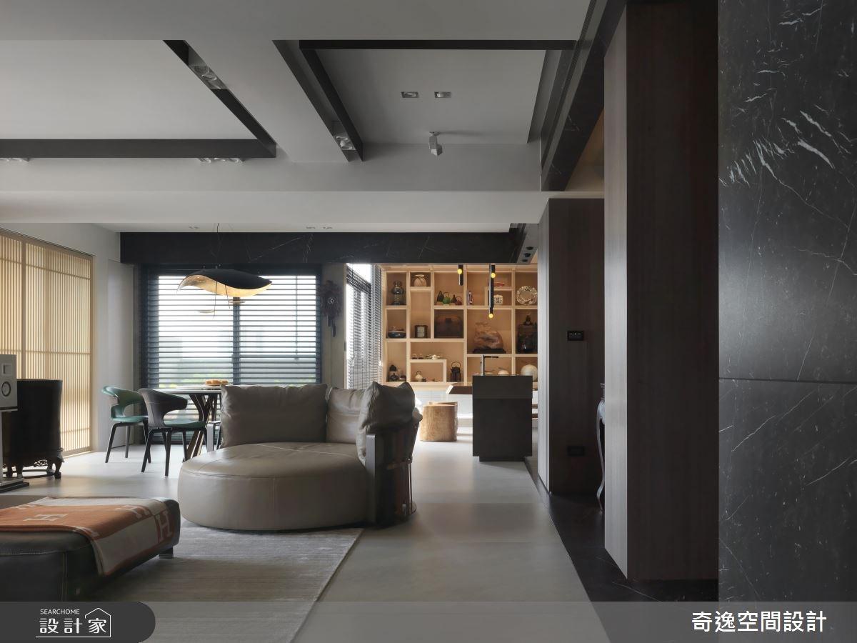 40坪新成屋(5年以下)_現代風客廳案例圖片_奇逸空間設計_奇逸_41之3