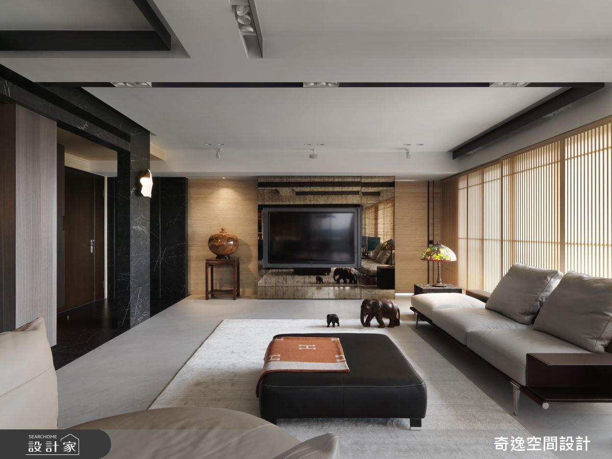 40坪新成屋(5年以下)_現代風客廳案例圖片_奇逸空間設計_奇逸_41之4