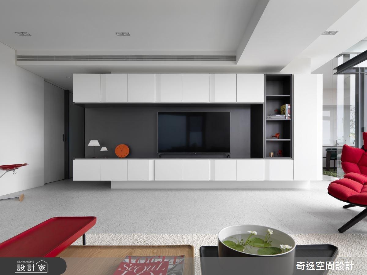30坪新成屋(5年以下)_現代風客廳案例圖片_奇逸空間設計_奇逸_42之4