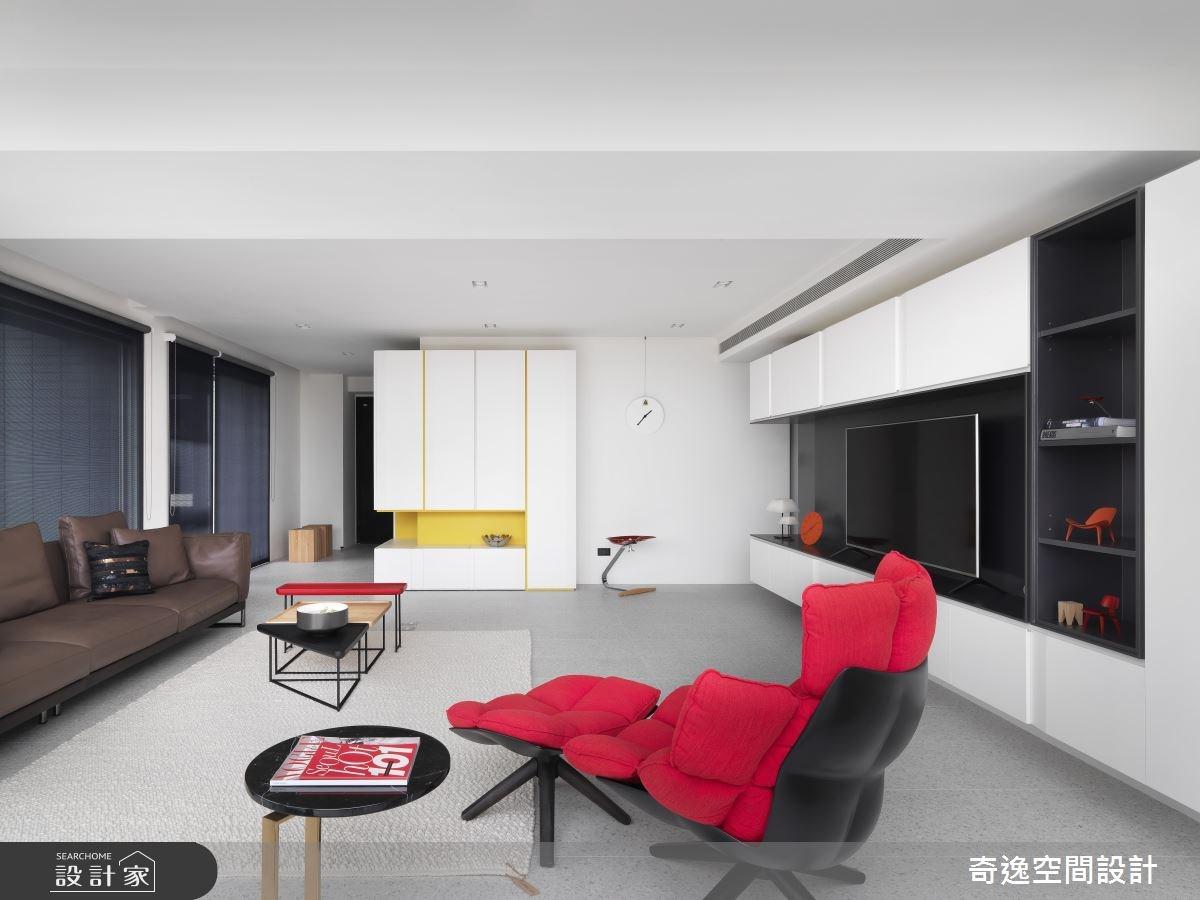 30坪新成屋(5年以下)_現代風客廳案例圖片_奇逸空間設計_奇逸_42之5