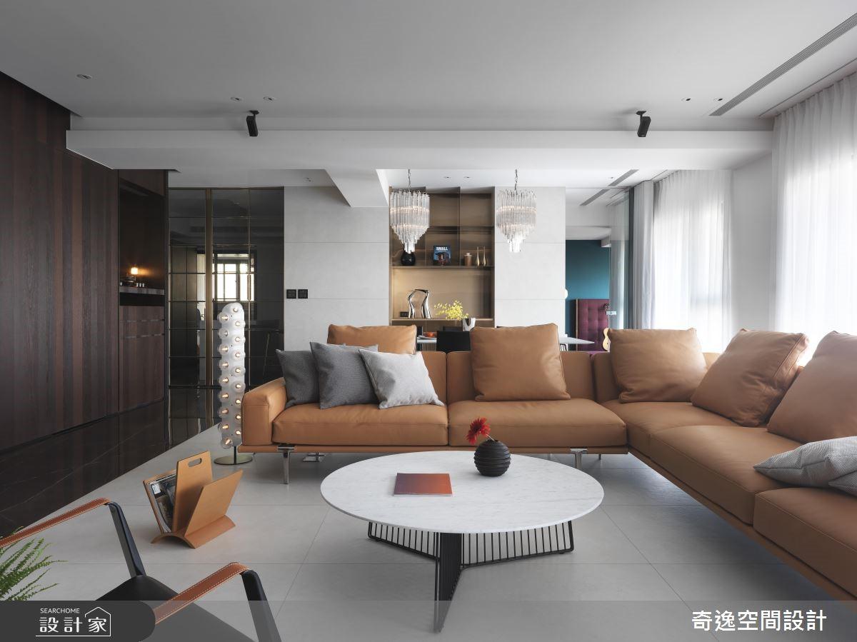 80坪新成屋(5年以下)_現代風客廳案例圖片_奇逸空間設計_奇逸_44之4