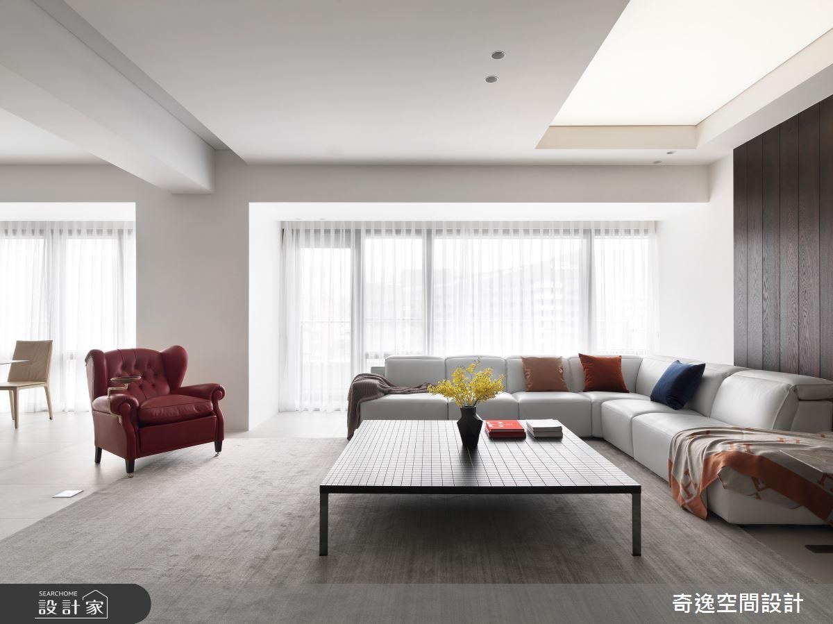 60坪新成屋(5年以下)_現代風客廳案例圖片_奇逸空間設計_奇逸_45之4