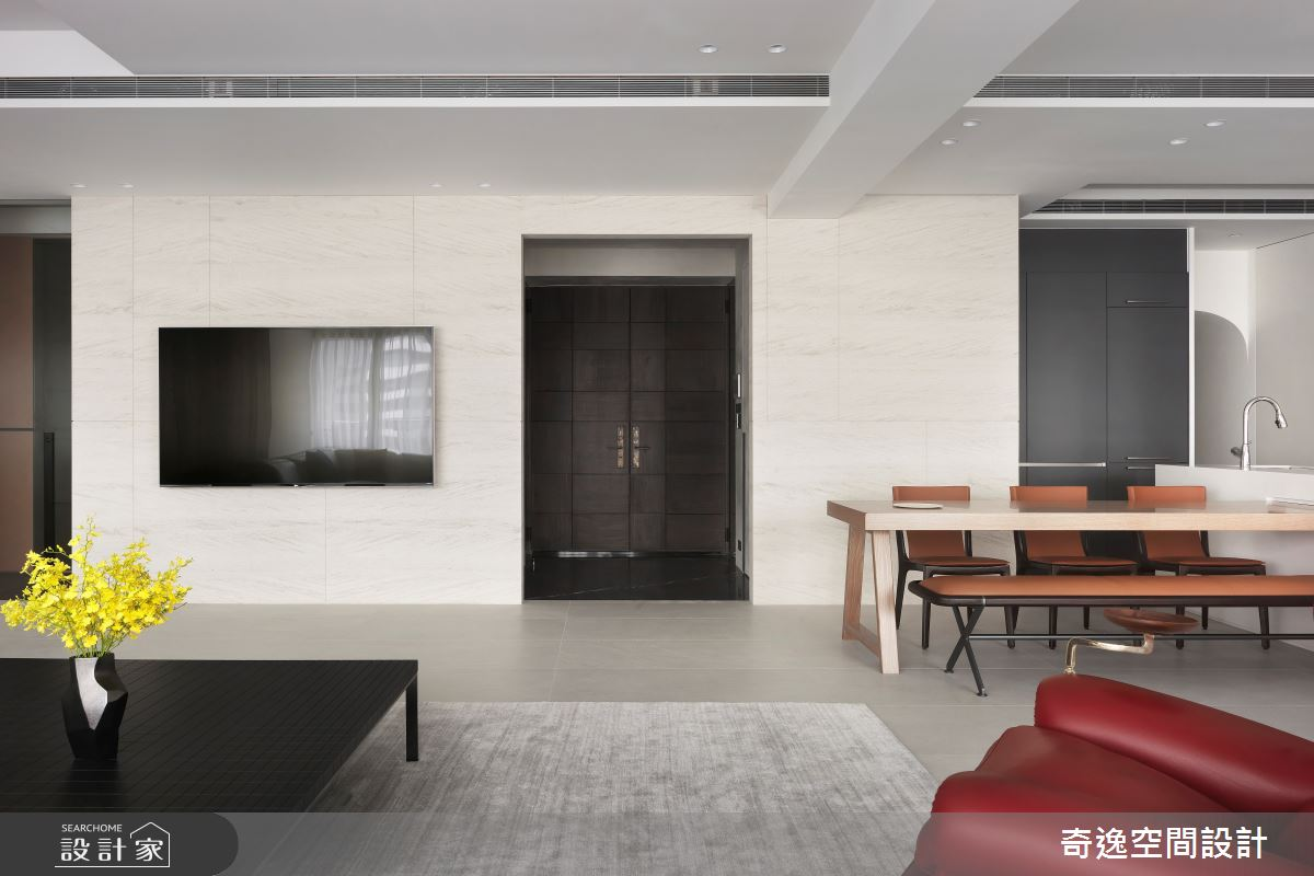 60坪新成屋(5年以下)_現代風玄關案例圖片_奇逸空間設計_奇逸_45之2