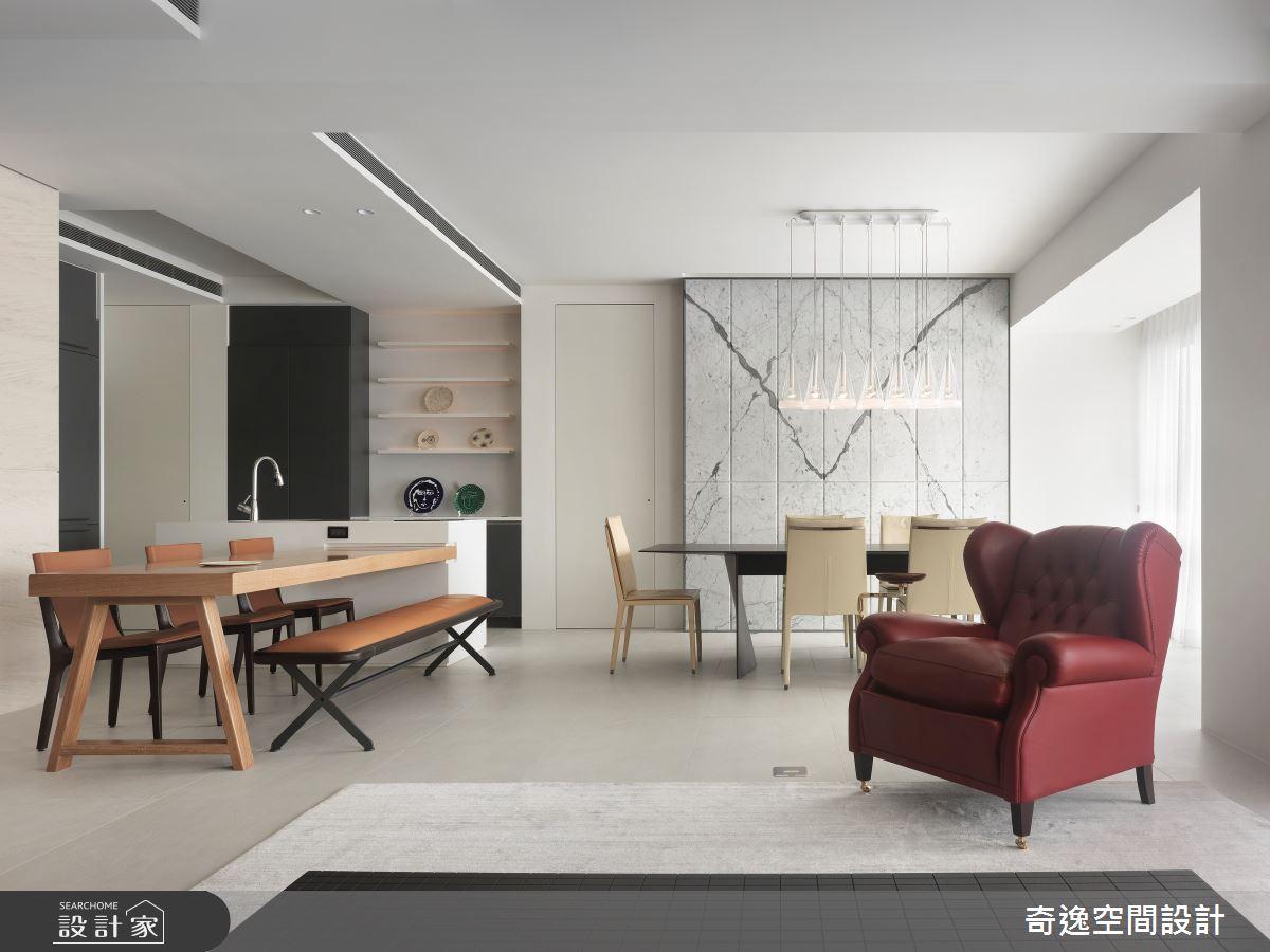 60坪新成屋(5年以下)_現代風餐廳中島案例圖片_奇逸空間設計_奇逸_45之6