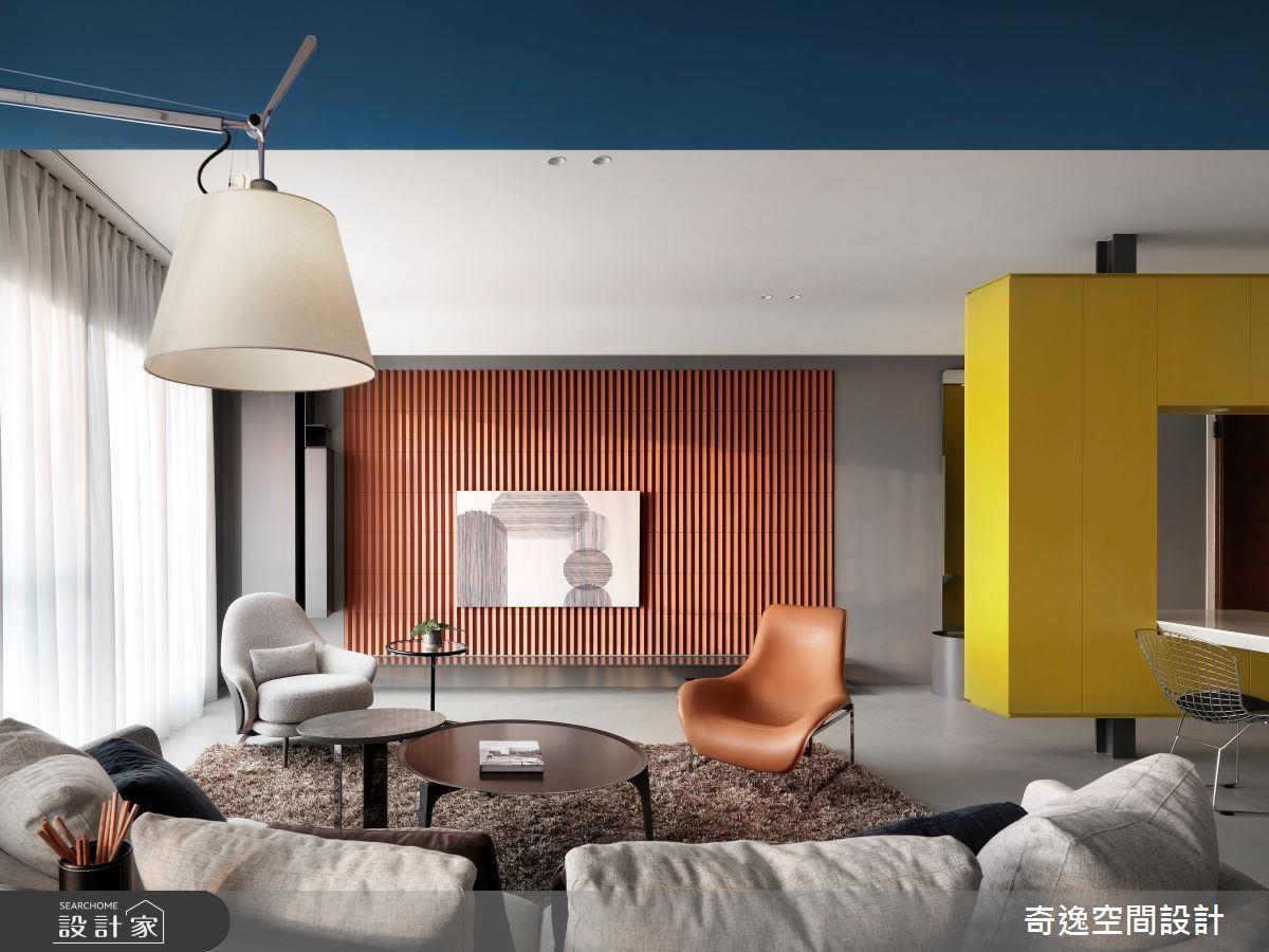 39坪新成屋(5年以下)_現代風客廳案例圖片_奇逸空間設計_奇逸_46之3