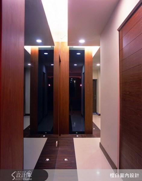 160坪預售屋_混搭風玄關案例圖片_橙白室內裝修設計工程有限公司_橙白_02之1