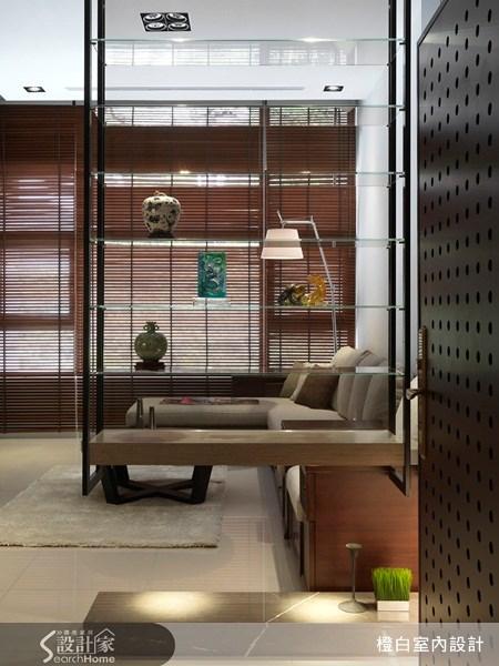 38坪新成屋(5年以下)_新中式風玄關案例圖片_橙白室內裝修設計工程有限公司_橙白_03之2
