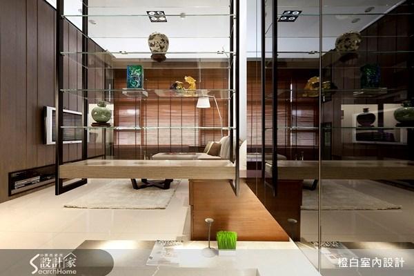 38坪新成屋(5年以下)_新中式風玄關案例圖片_橙白室內裝修設計工程有限公司_橙白_03之1