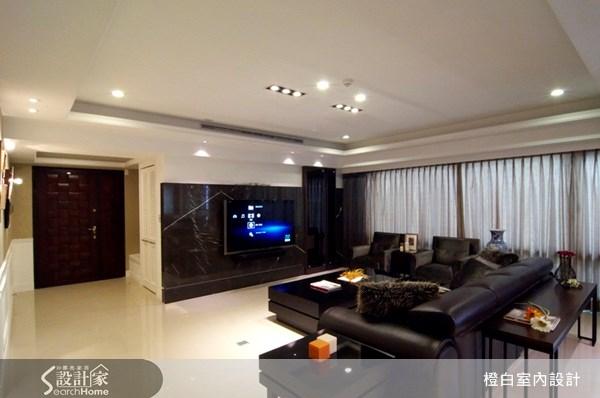 52坪新成屋(5年以下)_新古典客廳案例圖片_橙白室內裝修設計工程有限公司_橙白_06之2