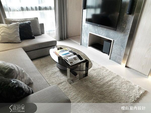 35坪新成屋(5年以下)_奢華風客廳案例圖片_橙白室內裝修設計工程有限公司_橙白_07之5