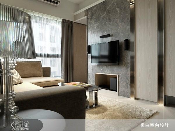 35坪新成屋(5年以下)_奢華風客廳案例圖片_橙白室內裝修設計工程有限公司_橙白_07之4