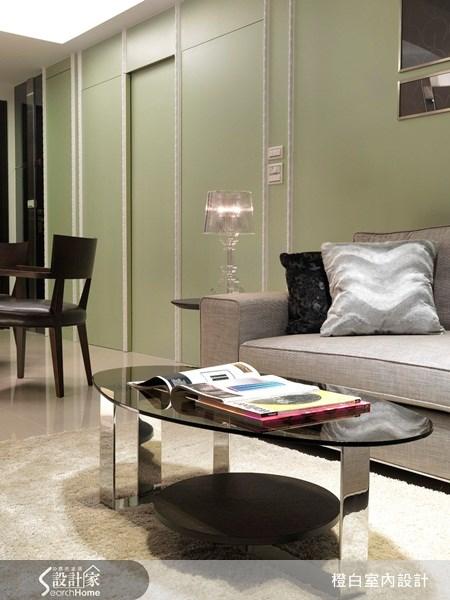 35坪新成屋(5年以下)_奢華風客廳案例圖片_橙白室內裝修設計工程有限公司_橙白_07之3