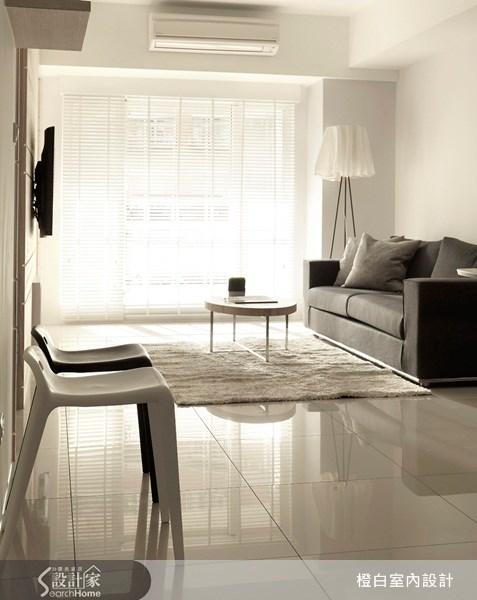23坪新成屋(5年以下)_北歐風客廳案例圖片_橙白室內裝修設計工程有限公司_橙白_09之2