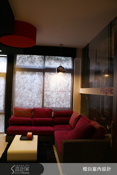 10坪新成屋(5年以下)_奢華風客廳案例圖片_橙白室內裝修設計工程有限公司_橙白_13之6