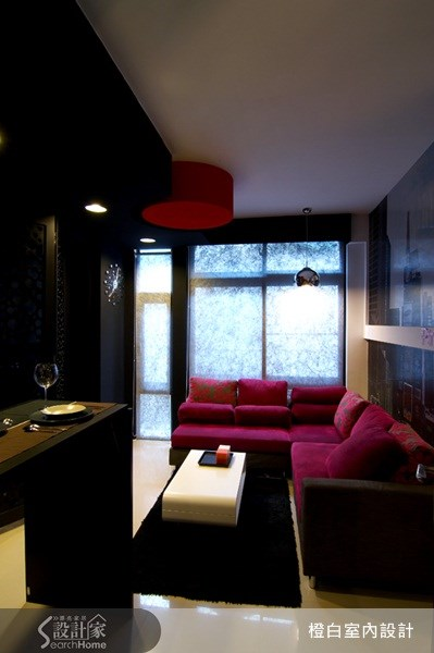 10坪新成屋(5年以下)_奢華風客廳案例圖片_橙白室內裝修設計工程有限公司_橙白_13之8