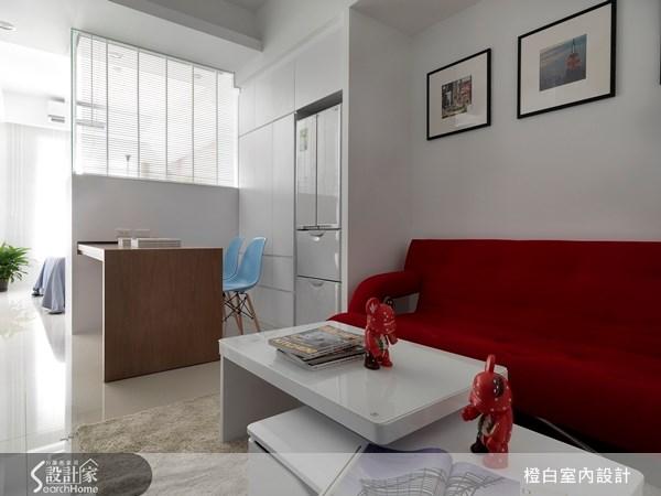 12坪新成屋(5年以下)_現代風客廳案例圖片_橙白室內裝修設計工程有限公司_橙白_16之3
