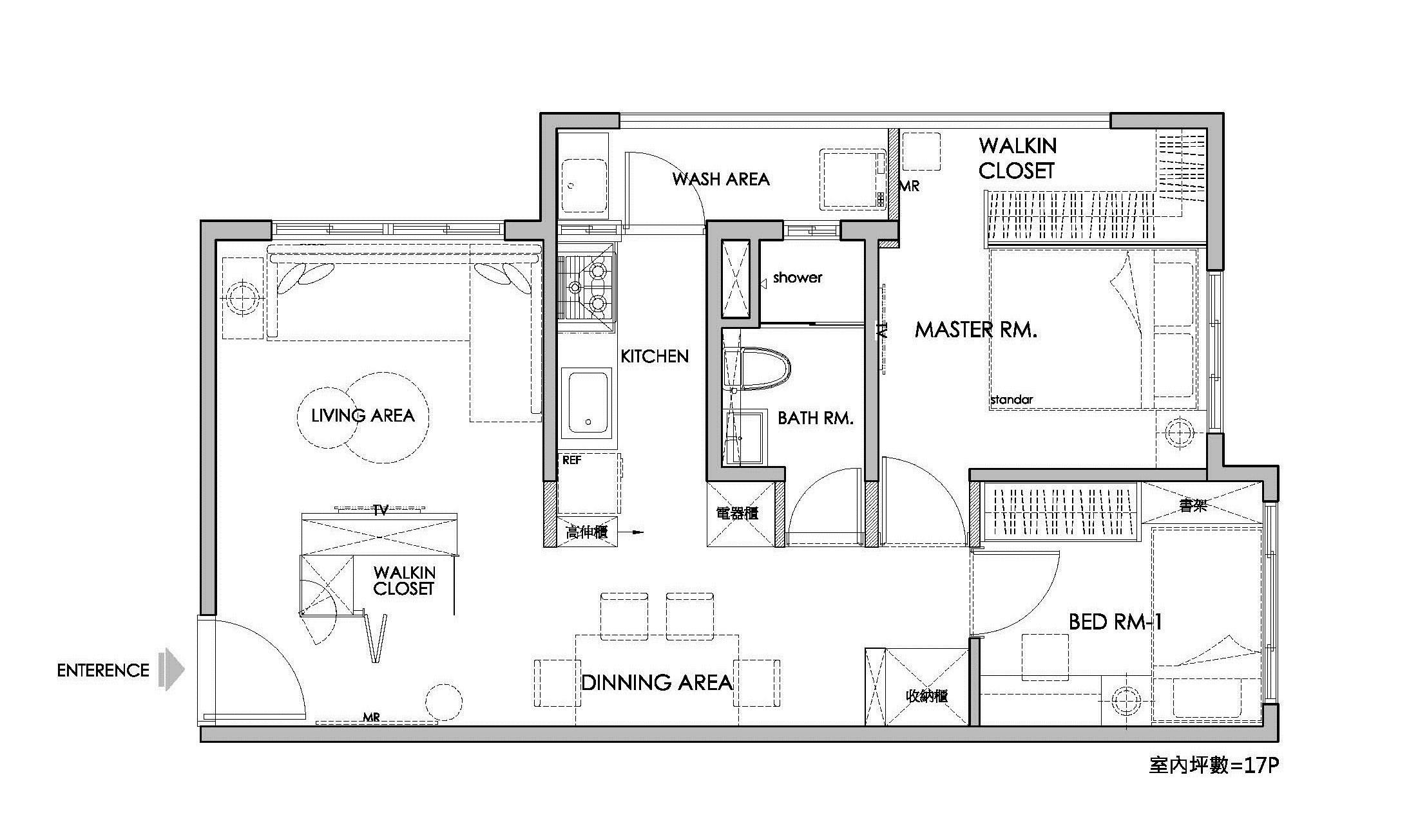 17坪新成屋(5年以下)_北歐風案例圖片_橙白室內裝修設計工程有限公司_橙白_17之23