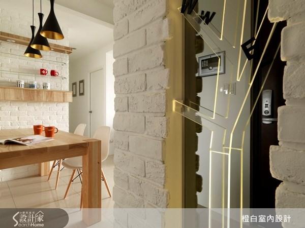 18坪新成屋(5年以下)_北歐風玄關案例圖片_橙白室內裝修設計工程有限公司_橙白_18之3