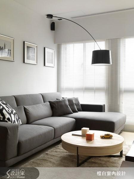 18坪新成屋(5年以下)_北歐風客廳案例圖片_橙白室內裝修設計工程有限公司_橙白_18之5