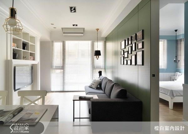 18坪新成屋(5年以下)_美式風客廳案例圖片_橙白室內裝修設計工程有限公司_橙白_23之2