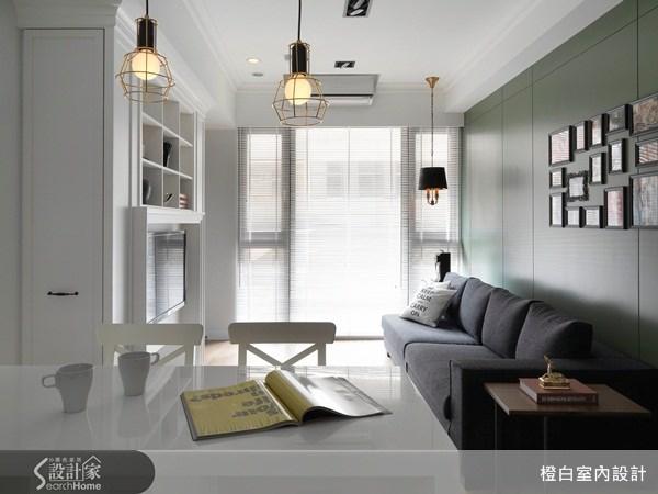 18坪新成屋(5年以下)_美式風客廳案例圖片_橙白室內裝修設計工程有限公司_橙白_23之1