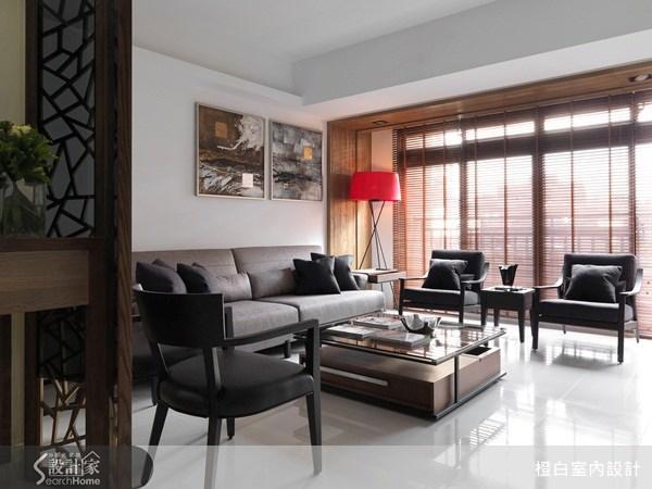 33坪新成屋(5年以下)_混搭風客廳案例圖片_橙白室內裝修設計工程有限公司_橙白_24之1