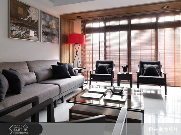 33坪新成屋(5年以下)_混搭風客廳案例圖片_橙白室內裝修設計工程有限公司_橙白_24之4