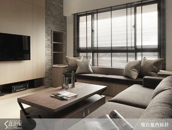 20坪新成屋(5年以下)_混搭風客廳案例圖片_橙白室內裝修設計工程有限公司_橙白_25之2
