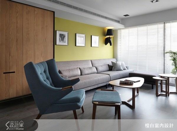 35坪老屋(16~30年)_混搭風客廳案例圖片_橙白室內裝修設計工程有限公司_橙白_27之1