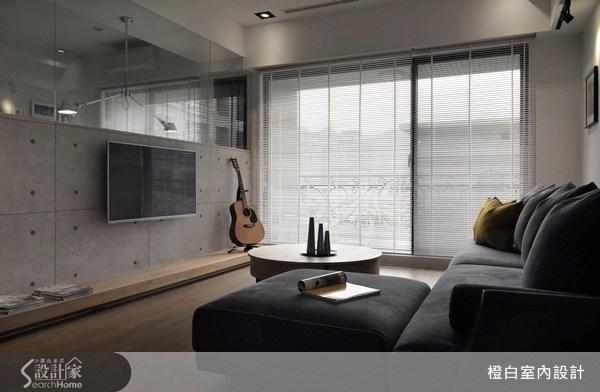 30坪新成屋(5年以下)_混搭風客廳案例圖片_橙白室內裝修設計工程有限公司_橙白_29之2