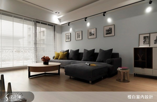 30坪新成屋(5年以下)_混搭風客廳案例圖片_橙白室內裝修設計工程有限公司_橙白_29之3