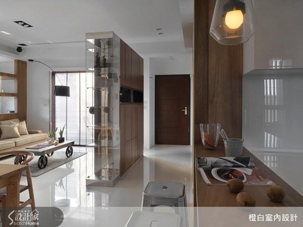 30坪新成屋(5年以下)_現代風玄關案例圖片_橙白室內裝修設計工程有限公司_橙白_32之1