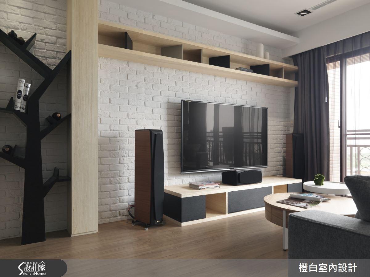 30坪新成屋(5年以下)_簡約風客廳案例圖片_橙白室內裝修設計工程有限公司_橙白_36之9