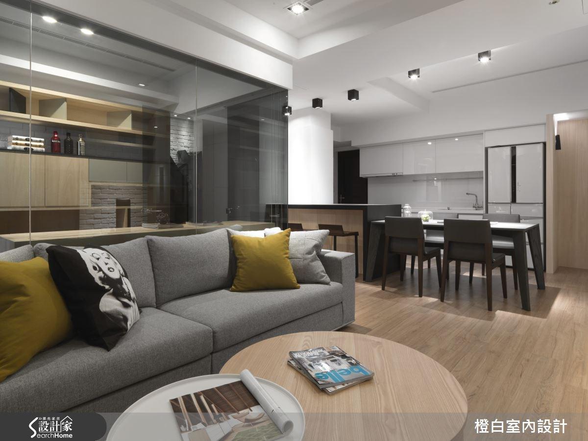 30坪新成屋(5年以下)_簡約風客廳案例圖片_橙白室內裝修設計工程有限公司_橙白_36之10