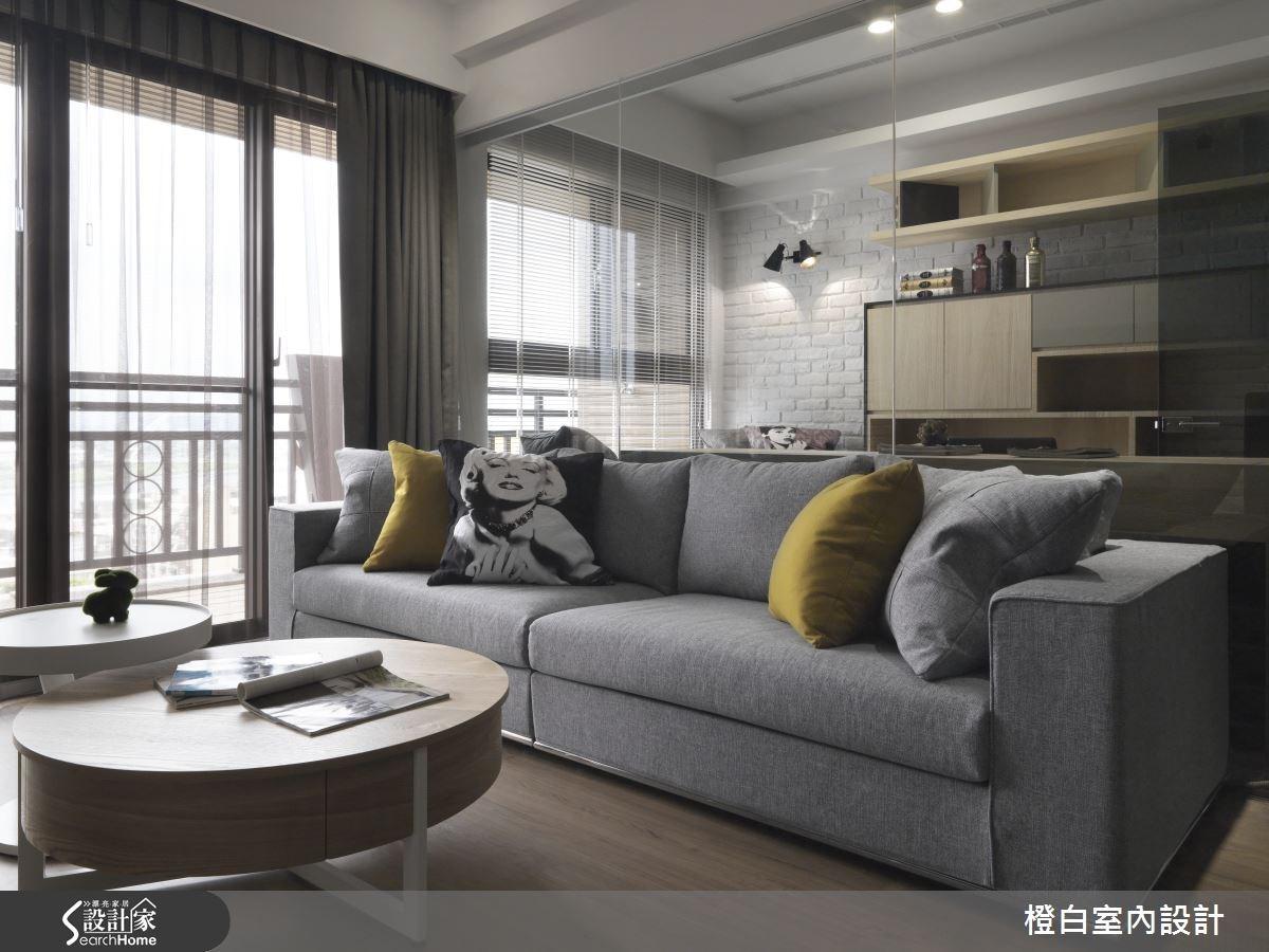 30坪新成屋(5年以下)_簡約風客廳案例圖片_橙白室內裝修設計工程有限公司_橙白_36之11