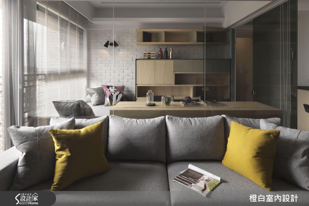 30坪新成屋(5年以下)_簡約風客廳案例圖片_橙白室內裝修設計工程有限公司_橙白_36之13