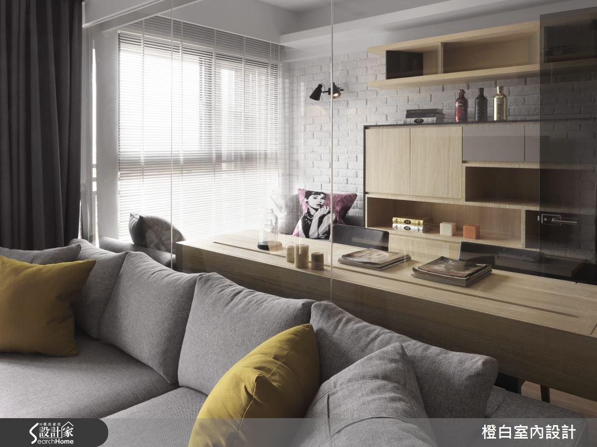 30坪新成屋(5年以下)_簡約風客廳案例圖片_橙白室內裝修設計工程有限公司_橙白_36之14