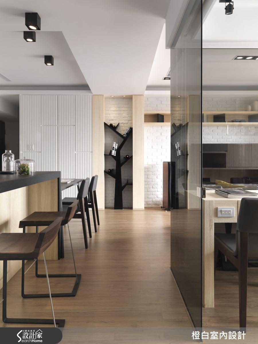 30坪新成屋(5年以下)_簡約風走廊案例圖片_橙白室內裝修設計工程有限公司_橙白_36之15