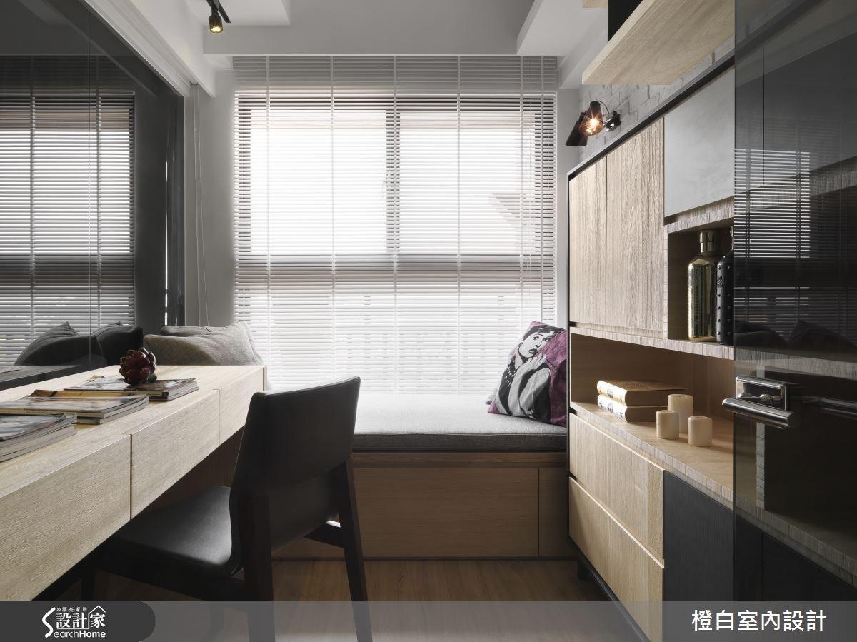 30坪新成屋(5年以下)_簡約風書房案例圖片_橙白室內裝修設計工程有限公司_橙白_36之16