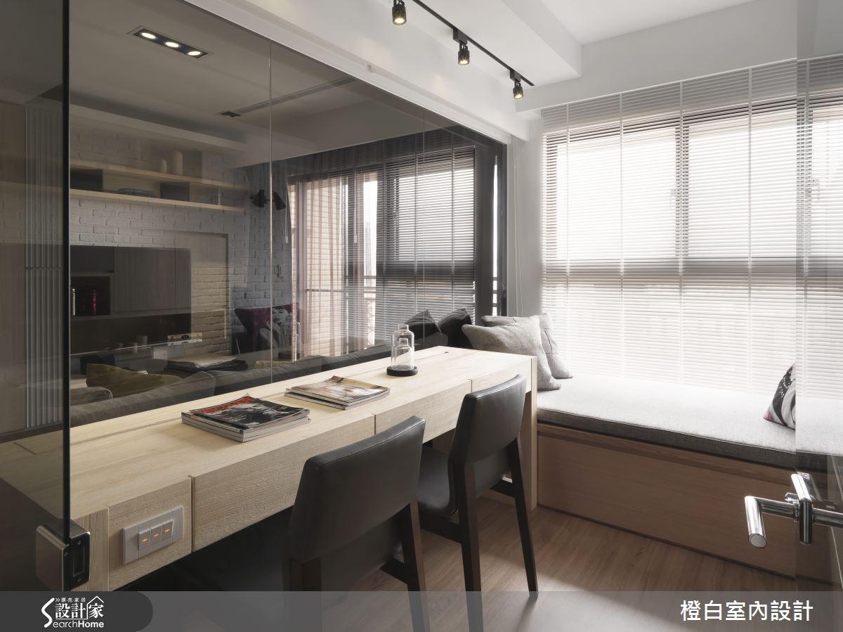 30坪新成屋(5年以下)_簡約風書房案例圖片_橙白室內裝修設計工程有限公司_橙白_36之18