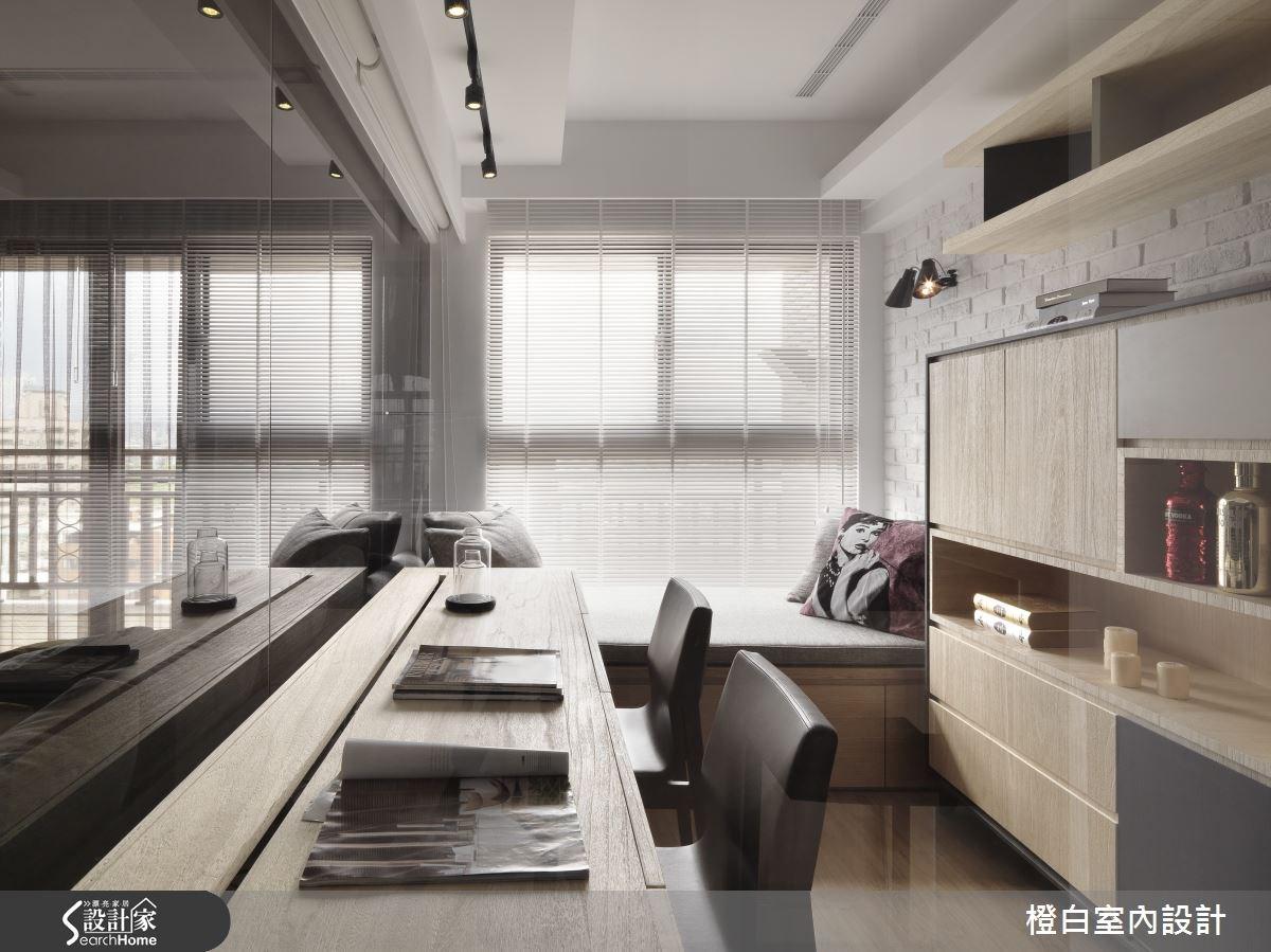 30坪新成屋(5年以下)_簡約風書房案例圖片_橙白室內裝修設計工程有限公司_橙白_36之19