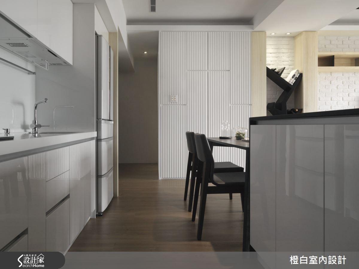 30坪新成屋(5年以下)_簡約風廚房案例圖片_橙白室內裝修設計工程有限公司_橙白_36之22