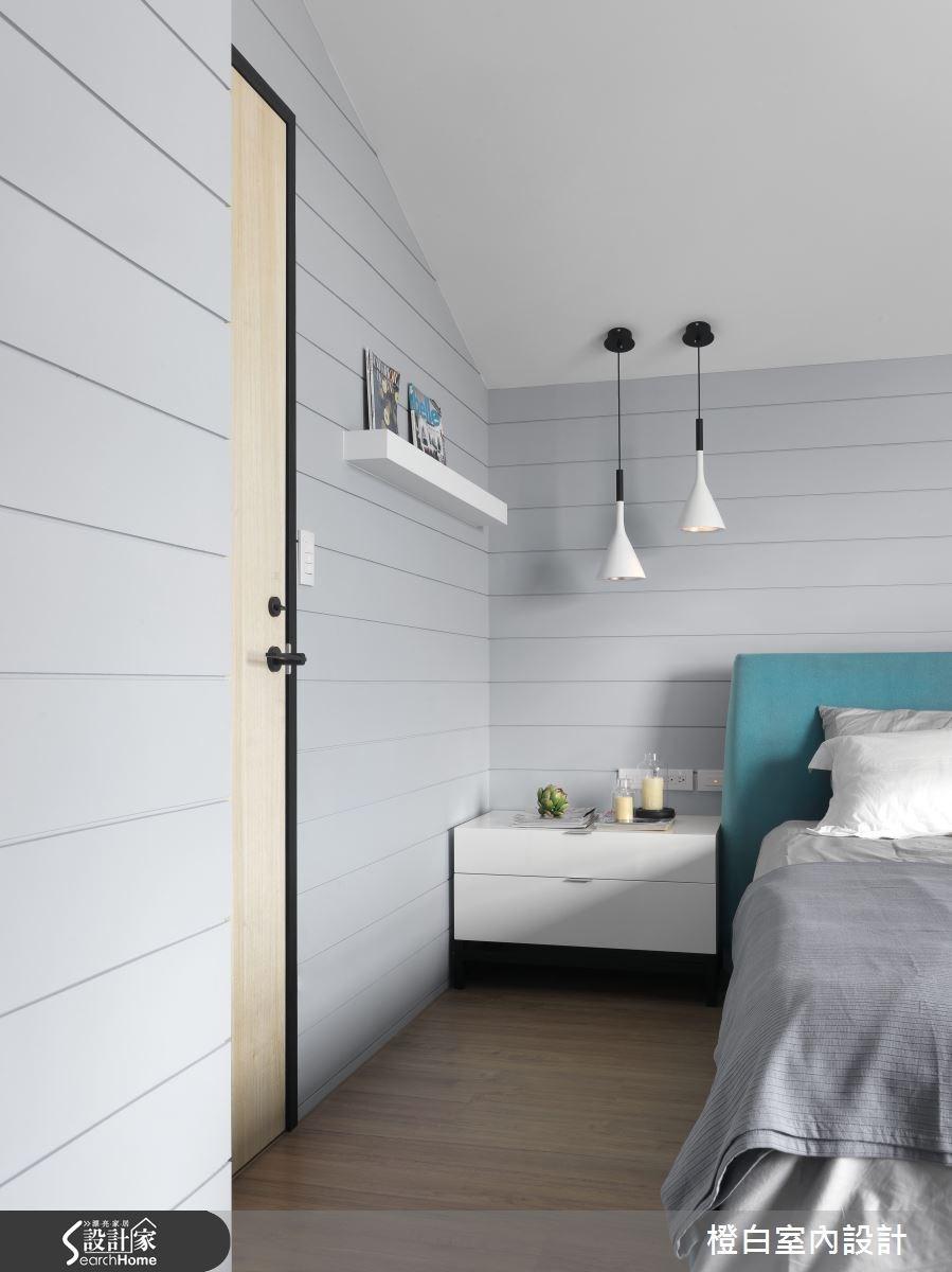 30坪新成屋(5年以下)_簡約風臥室案例圖片_橙白室內裝修設計工程有限公司_橙白_36之25
